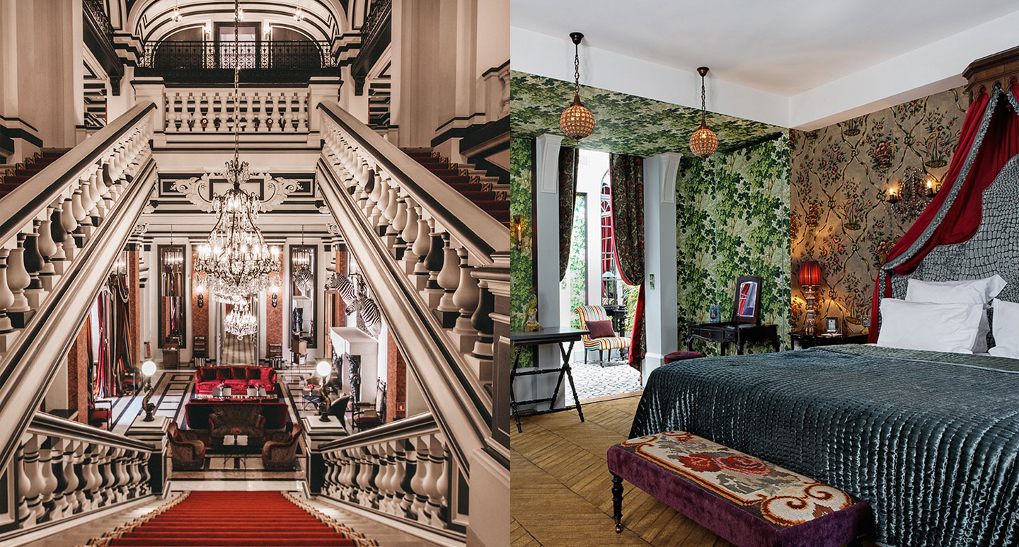 The Saint James Paris boutique hotel in Paris, France