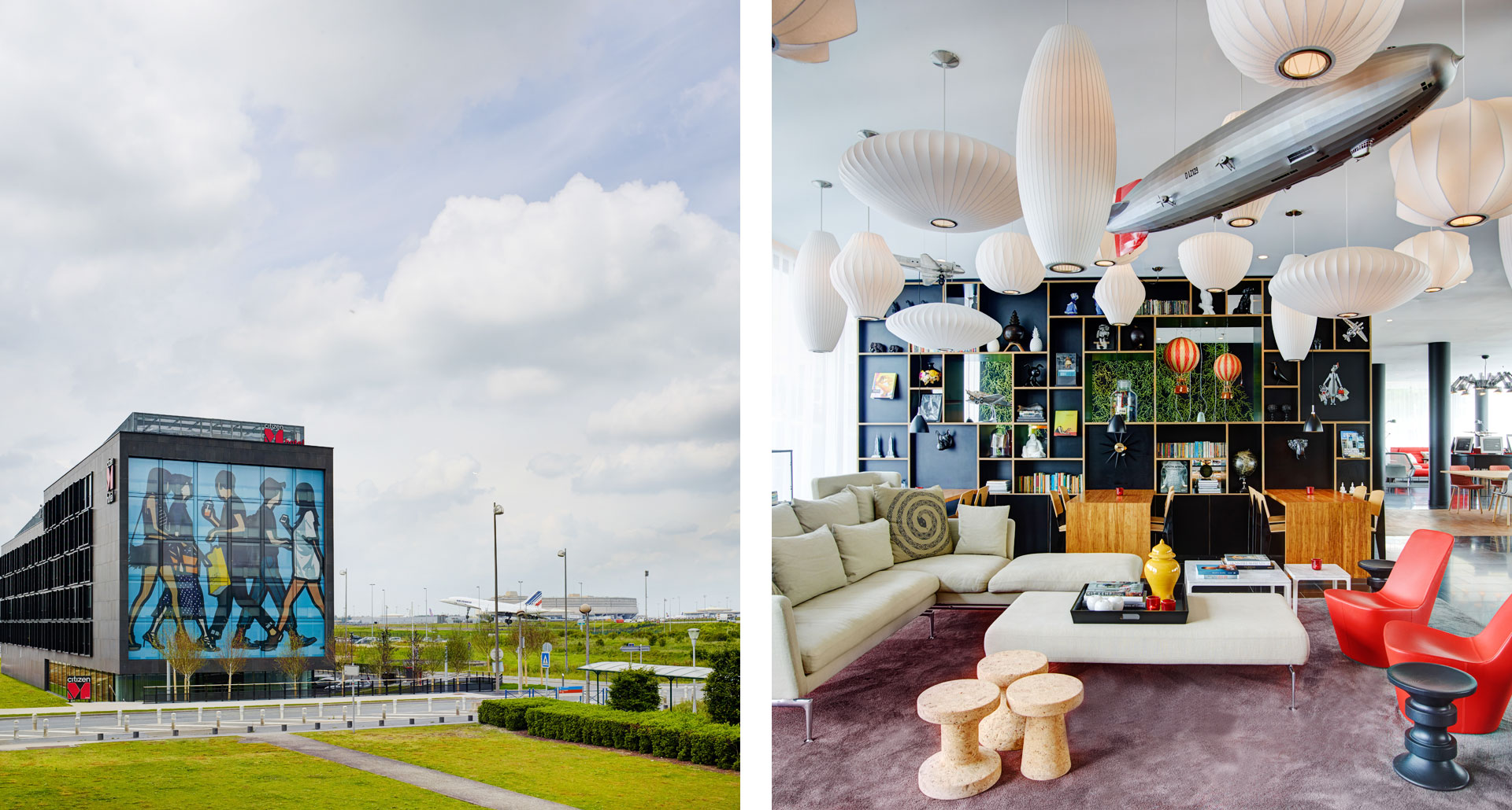 CitizenM — Charles de Gaulle Airport - boutique hotel in Paris