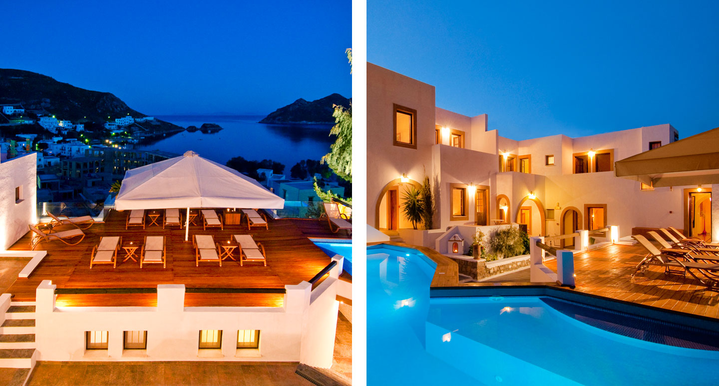 Petra Hotel & Suites - boutique hotel in Patmos
