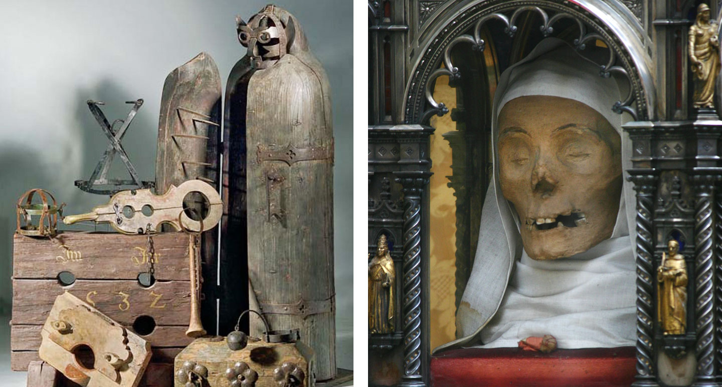 Torture Museum and St. Catherine of Siena's severed head