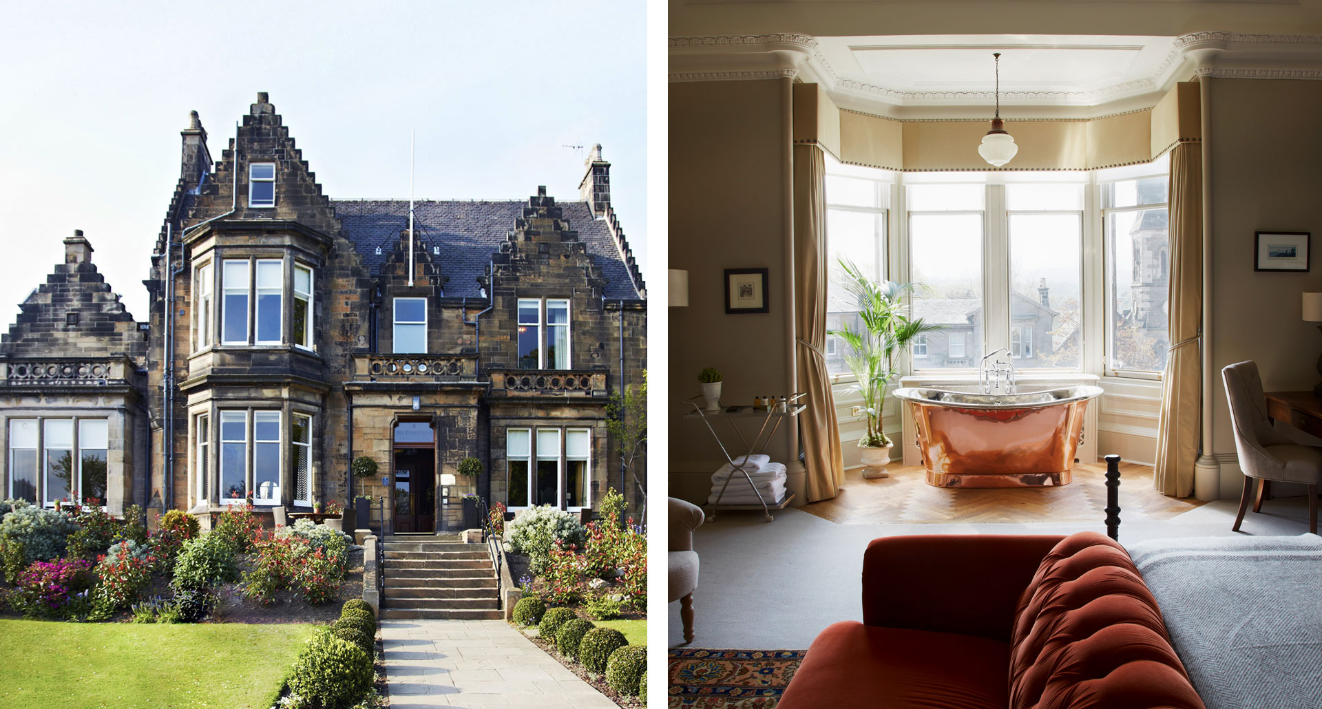 The Dunstane Houses- Dustane House - boutique hotel in Edinburgh